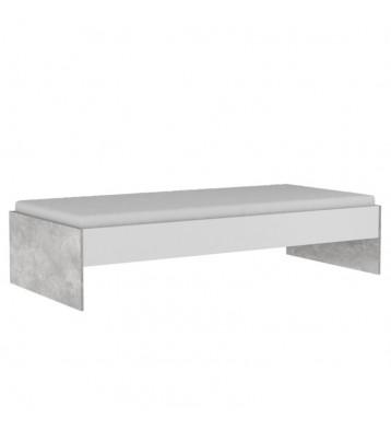 Cama con cajonera Concrete diseño industrial 90x200 cm