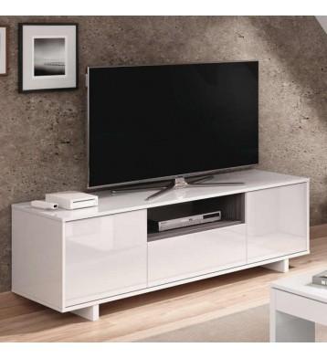 Mesa módulo bajo TV 3 puertas blanca 46x150x41 cm