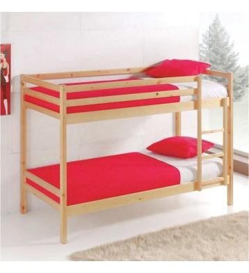 Litera Premier de madera color natural 90x190 cm
