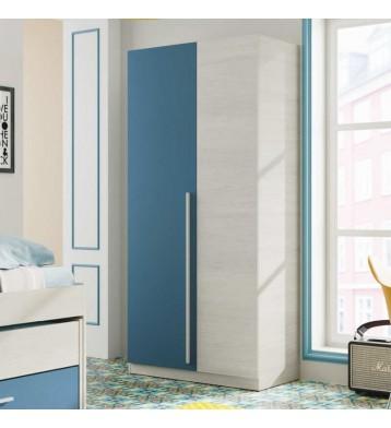 Armario Wic 90x200 cm color Azul 2 puertas