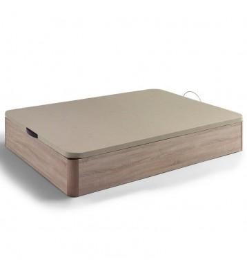 Canapé color cambrian de madera con base tapizada beige