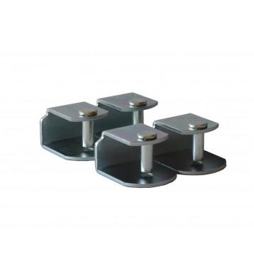 Pack 4 abrazaderas metal
