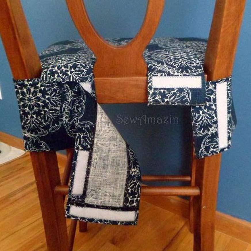 Cómo hacer fundas para sillas: asiento