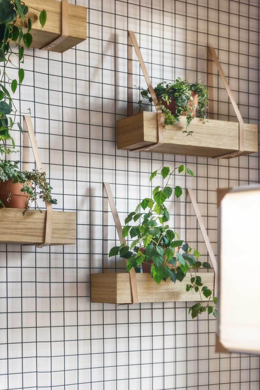 jardin vertical interior con rejilla