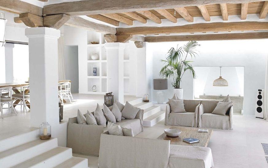 Salón decoración estilo mediterráneo