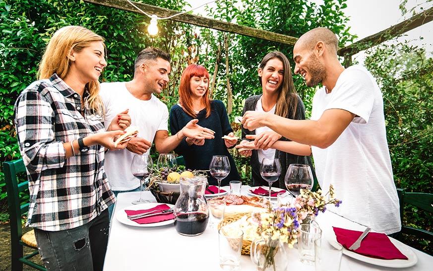 Cenas de verano para invitados