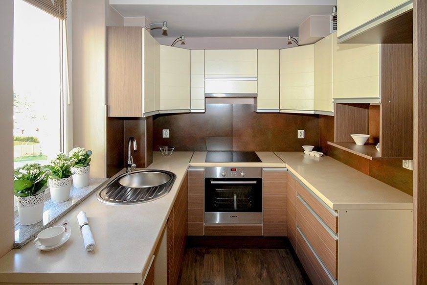 Distribución de una cocina pequeña abierta