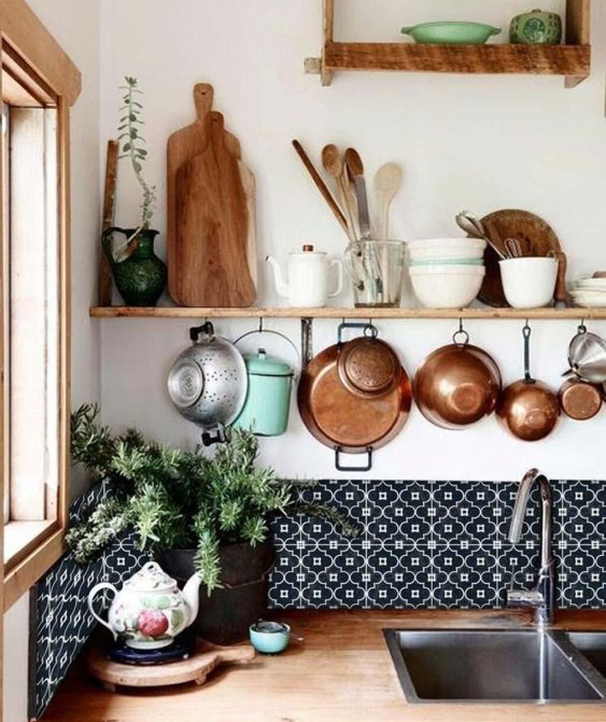 Utensilios para decorar una cocina rústica