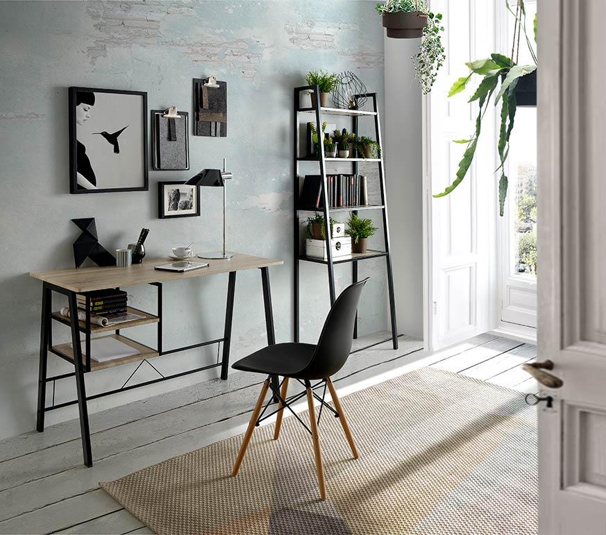 Decorar un armario pequeño con colores claros y detalles en colores oscuros