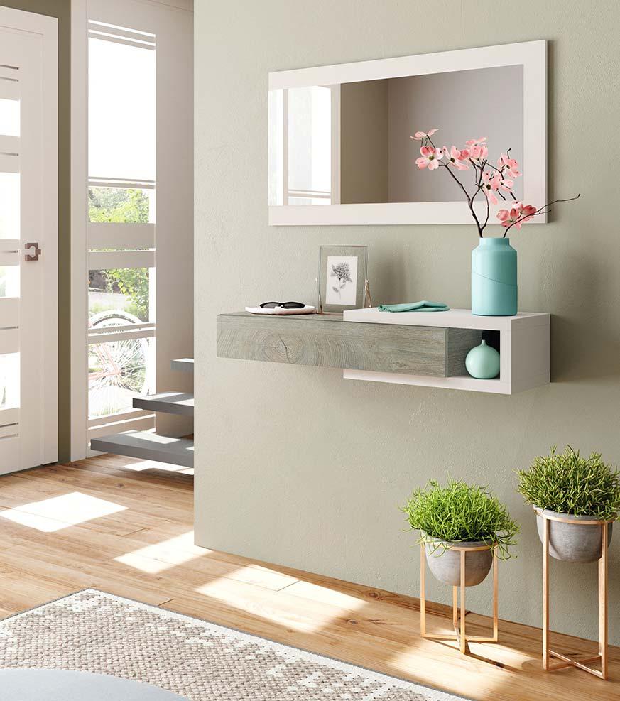 Flores para decorar un recibidor, sobre el mueble o en macetas de diseño