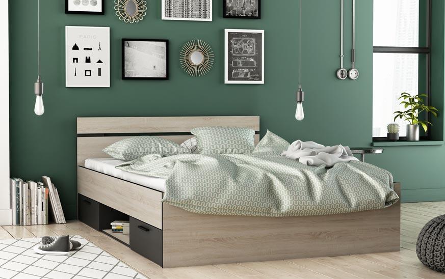 Cama con cajones una solucion de almacenaje en dormitorios