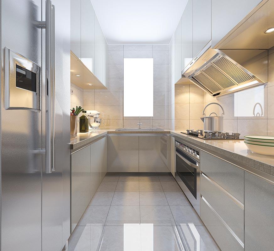 Ideas para redormar cocina pequeña, favorece la luminosidad