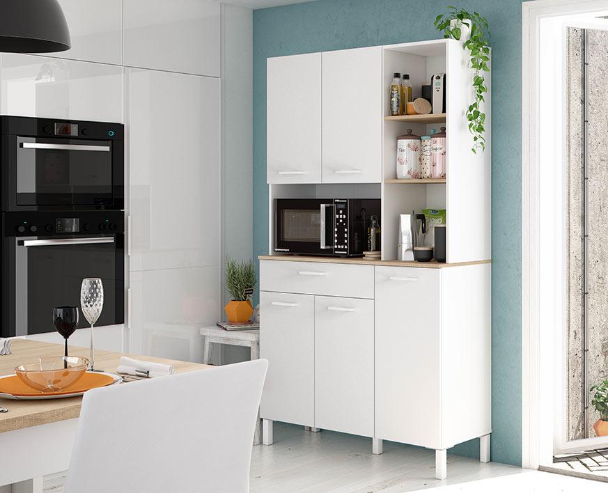 Ideas para reformar cocina, sin obras, con muebles auxiliares