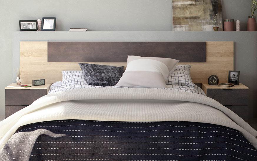 Otra idea para cabecero de cama en estilo industrial.